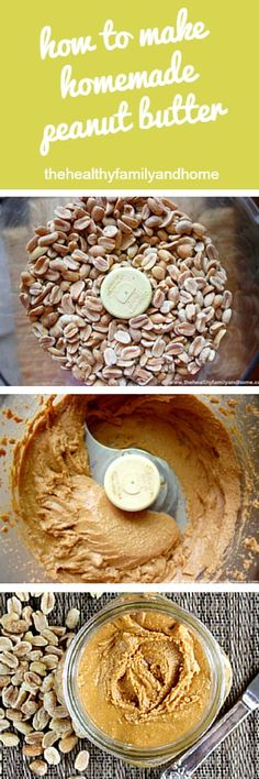 How To Make Homemade Peanut Butter using organic peanuts and a food processor for a clean eating snack that's vegan, gluten-free, dairy-free, sugar-free. Clean Eating Recipes, Clean Eating Snacks, Healthy Snacks, Stay Healthy, Organic Recipes, Raw Food Recipes, Cooking Recipes, Dairy Free, Gluten Free