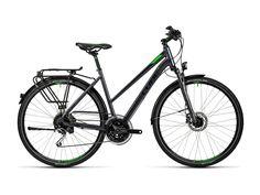 Das Cube Touring EXC ist das richtige Frauenrad für die große Tour, den Alltag, oder auch mal die Fitnessrunde zwischendurch. Mit der hydraulischen Scheibenbremse und den 27 Gängen ist es bestens gerüstet. Dank der Federgabel bringen auch Ausflüge abseits der Straße Fahrer und Rad nie aus der Ruhe. #cube #trekkingbike #bikerboarder