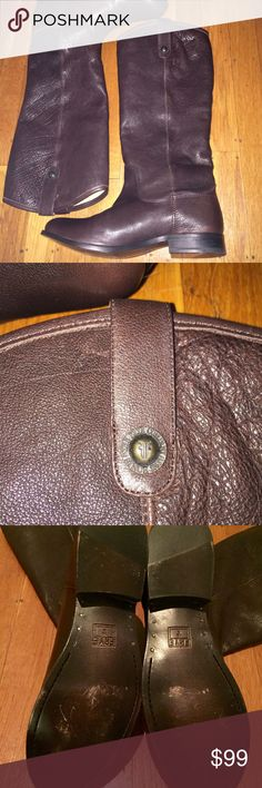 NWOT Frye Melissa Button Brown Boots NWOT Frye Melissa Button Brown Leather Boots, Size 8.5 Frye Shoes Heeled Boots