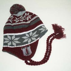 dec58c9dc5c Tow Knit Collection Hat Grey Snowflake maroon