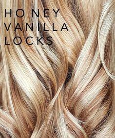 Honey Vanilla Locks perfect for summer! // Honey Vanilla Locks perfect for summer! // – Honey Vanilla Locks perfect for summer! Natural Dry Shampoo, Shampooing Sec, Brown Blonde Hair, Blonde Honey, Blonde Hair For Summer, Auburn Blonde Hair, Ashy Hair, Honey Hair, Hair Color And Cut
