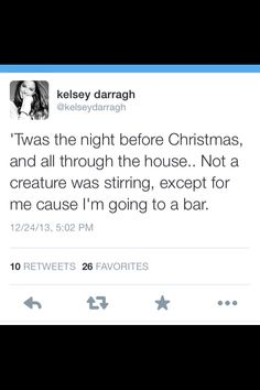 'Twas the night before Christmas...