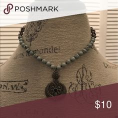 Necklace with medallion Turquoise beads Jewelry Necklaces