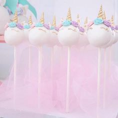 Unicorn cake pops from a Magical Unicorn Birthday Party on Kara's Party Ideas   KarasPartyIdeas.com (12)