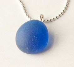 Sapphire Blue Marble Pendant Gifts under 10 Bridal by mlwdesigns