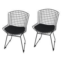 Kit 2 Cadeiras de Jantar Bertoia Preto Mobizza