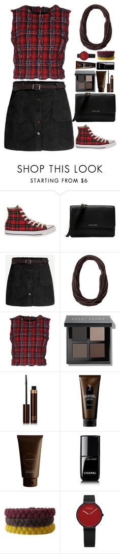 """Tartan Print"" by gicreazioni ❤ liked on Polyvore featuring Converse, Michael Kors, Ermanno Scervino, Bobbi Brown Cosmetics, Tom Ford, V76 by Vaughn, VitaMan and Chanel"