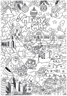 Cozy colors with this fun Christmas coloring from Suzanne! Angel Coloring Pages, Free Coloring Pages, Coloring For Kids, Coloring Books, Christmas Coloring Sheets, Printable Christmas Coloring Pages, Christmas Printables, Christmas Mood, Christmas Colors