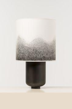 Lampe Goliath en laiton patiné et papier aquarelle, Gilles et Boissier, 2013
