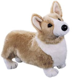 Corgis are the preferred mode of transportation for Welsh fairies, so I suppose we shall need corgis. Chadwick Corgi | Douglas Toys ®