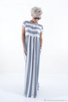 Летнее длинное платье для модных женщин. Стильная одежда на каждый день. Comfy Dresses, Linen Dresses, Simple Dresses, Cotton Dresses, Summer Dresses, Modest Fashion, Boho Fashion, Fashion Dresses, Elisa Cavaletti