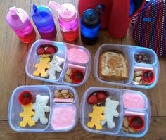 Lunch for all the kids. #bento, #lunch, #lunchbox #EasyLunchboxes