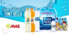 ¡Llévate un lote de agua Font Vella con @Supermecadomas! Solo esta semana, #sorteo de 10 lotes completos Font Vella