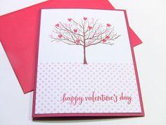 Handmade Valentines Card Happy Valentines Day Card by zuCards