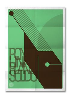 PointLinePlanSolid poster by Kohta Creative Studio