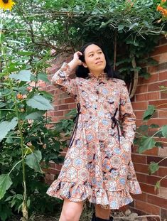 Josie has made her third! #honeycombdress! Isn't it beautiful? #cocowawapatterns #cwhoneycombdress #sewing Pdf Sewing Patterns, Dress Patterns, Shirt Dress Pattern, Sewing Techniques, Honeycomb, Nice Tops, Hand Sewing, Bodice, Embroidery