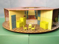 Round Dollhouse made by the Eagle Toy company of Canada.