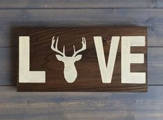 Deer sign, Deer Head Wood Sign, Stained, Hand Painted, Choose colors, Deer decor, Cabin decor, Hunting decor, woodland nursery, wildlife by RusticStrokes on Etsy https://www.etsy.com/listing/216528483/deer-sign-deer-head-wood-sign-stained