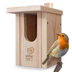 Bird Nesting Box, Nesting Boxes, Homemade Bird Houses, Bird Houses Diy, Bird House Feeder, Bird Feeders, Robin Nest Box, Bird Tables, Red Cedar Wood