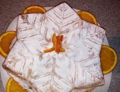 Tort fulg de nea cu portocale