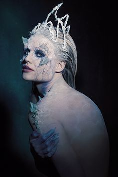 """Ice Queen"" — Photographer: Susann Daljord Makeup/SFX: Ida Astero Tabaka @idaastero Model: Dina Lillian Nielsen"