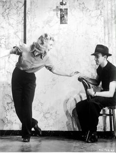 Ginger Rogers & Hermes Pan - swing time rehearsals c.1936