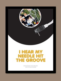 She Bangs The Drums  The Stone Roses / Song Lyric by CreativePrint, £6.00