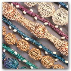 Niobium necklaces by Joan Dulla