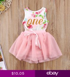 31fdeaf73ad Awesome Awesome US Stock Christmas Newborn Baby Girls Floral Romper Tutu Tulle  Dress Outfits Set 2018