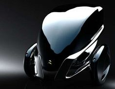 Futuristic Tricycle Concepts : Citroen E-3POD Antistatic