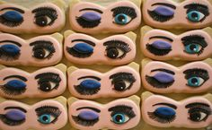 Beautiful cookies to match Mary Kay® Mineral Eye Color in Peacock Blue and Iris!