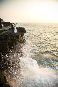 This is the cliffs at the Sheraton Kona on the Big Island of Hawaii.  During the winter the waves get quite big causing large spray.    Kona Wedding Photographer, Eye Expression | Big Island, Hawaii  http://www.eyeexpression.com