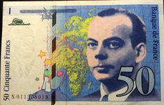 I refused to trade this 50-Francs note for Euro in 2002 because it's the Little Prince!