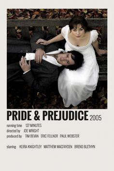 Alternative Minimalist Movie / Show Polaroid Poster – Pride & Prejudice Iconic Movie Posters, Minimal Movie Posters, Minimal Poster, Movie Poster Art, Iconic Movies, Good Movies, Disney Movie Posters, Art Posters, Poster Wall
