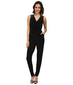 Calvin Klein Embellished Jumpsuit CD4A1477 Black - 6pm.com