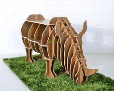 rhino puzzle table for living room decordiy animal