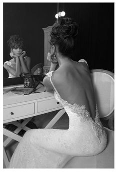 Backless Wedding Dress Gown - An  Inbal Dror creation from her Haute Couture 2012 Collection that we can