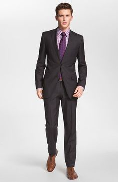 I'm digging this BOSS Black 'Jam/Sharp' Trim Fit Grey Virgin Wool Suit. Available at #Nordstrom via their Anniversary Sale for $499!
