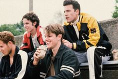 From left to right: Cole Hauser, Casey Affleck, Matt Damon, and Ben Affleck in Good Will Hunting, Casey Affleck, Matt Damon Ben Affleck, Good Will Hunting Quotes, Cole Hauser, Ella Enchanted, Ensemble Cast, The Book Thief, The Hollywood Reporter, Music Tv