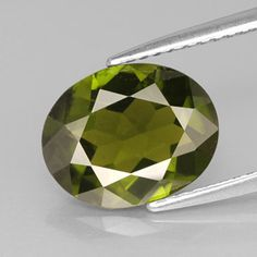 3.04 ct Olive Green Idocrase; such a great color