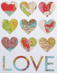 map hearts