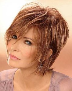 Short Shaggy Haircuts for Women Over 60…