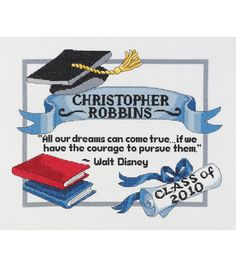 Janlynn Graduation Dreams Counted Cross Stitch Kit