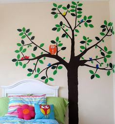 Great idea....cut the tree out of fabric attach to wall using fabric starch!!!! Sew Can Do: CraftShare Featured Guest: DIY Wall Decals