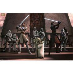 Star Wars - Clone Wars Poster Print 36x24 Poster Print 36x24 @ niftywarehouse.com #NiftyWarehouse #Geek #Products #StarWars #Movies #Film