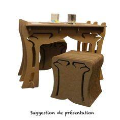 Table basse art déco carton