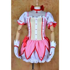 Puella Magi Madoka Magica Kaname Madoka Cosplay Costume ❤ liked on Polyvore featuring costumes, puella, role play costumes, cosplay costumes, cosplay halloween costumes and star costume