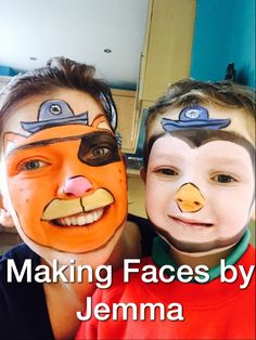 Octonauts face painting - Peso and Kwazii