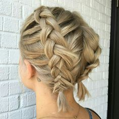 Short french dutch braid