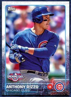 Anthony Rizzo baseball card - Opening Day 2015